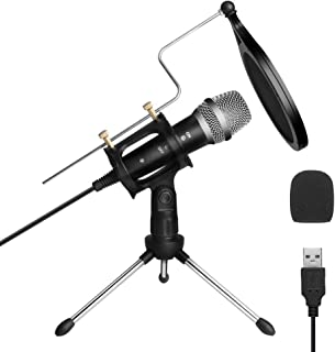 ARCHEER USB PC microfoon Computer Condensatormicrofoon Kleine professionele microfoon Condenser Microfoon voor pc Laptop P...