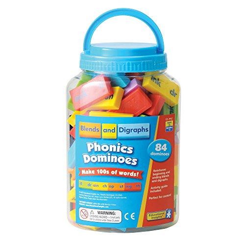 Educational Insights- Fichas de dominó phonics con combinaciones de letras y dígrafos de Learning Resources, Color EI-2942)