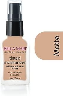 Bella Mari Natural Liquid Foundation, Medium Neutral, Matte; 1floz