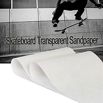 Ogquaton Verdicken Sie PVC Anti-Rutsch Transparentes Skateboard Schleifpapier Langes Brett Griffband Langes Brett Transparentes Schleifpapier Tanzbrett Flaches Skateboard Schleifpapier Praktisch