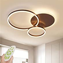 Wsxxn LED Ceiling Light Modern Dimmable Living Room Lamp Ring Designer Ceiling Lamp with Remote Control Fashion Ceiling La...