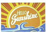 Close Up Fußmatte Hello Sunshine - sommerliche Fußabtreter - 60x40 cm - gelb/blau