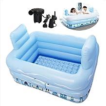 Opblaasbare Bath Buizen for volwassenen Portable Folding Blowup badkuipen Verdikte PVC bad met elektrische luchtpomp en 2 ...