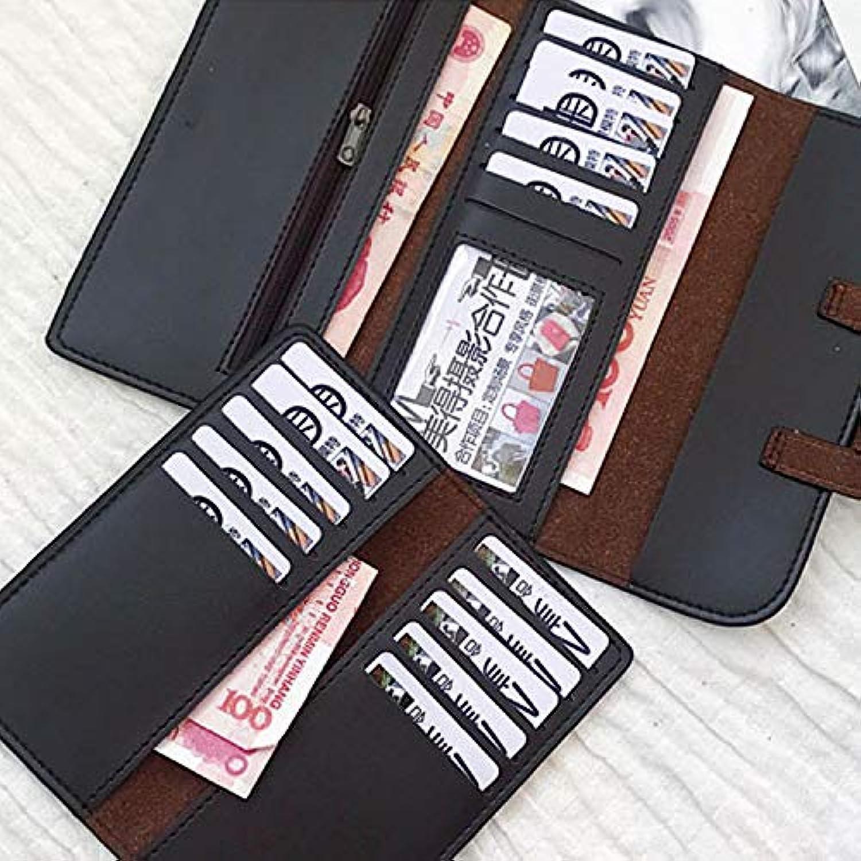 Andre Home Koreanische Version der Brieftasche weiblichen Langen Abschnitt glänzend Marmor Muster Damen Geld Clip Karte Paket zweiteilig (Farbe   schwarz) B07KQHVHF7