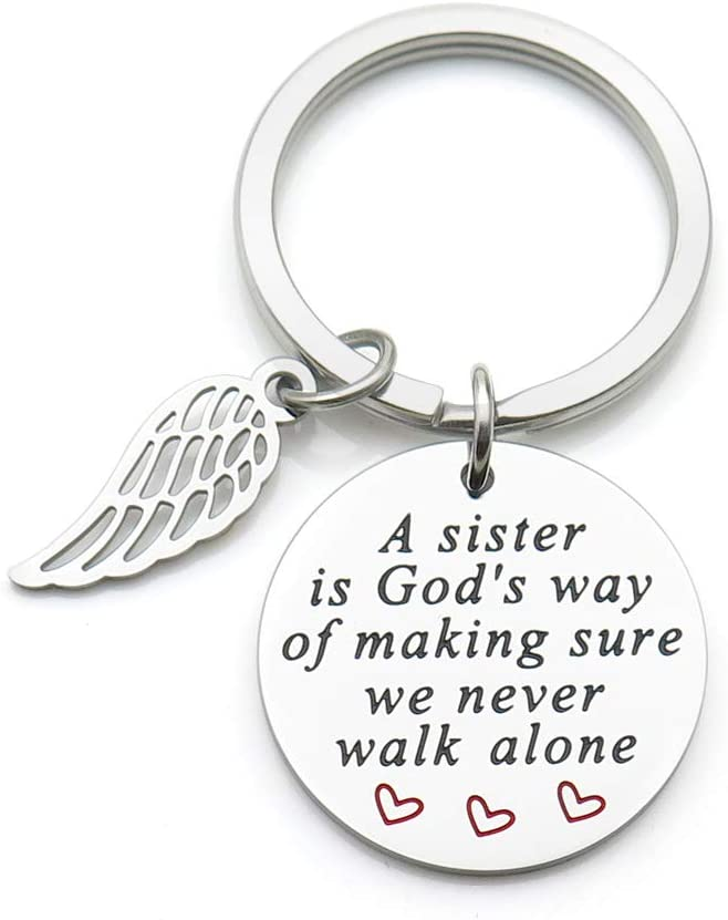 Sisters Keychain Mail order cheap A sister is God's way online shopping making w sure never we of