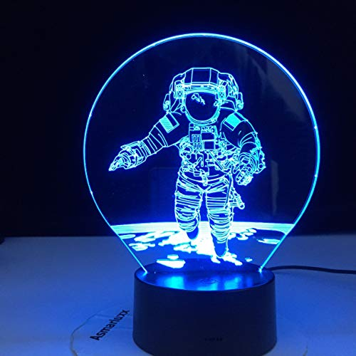 Only 1 Piece Colors Change 3D Astronaut Night Lamp LED Illusion Visual Night Light Kids Bedroom Decoration Sleeping Lamp Best Kids Gift