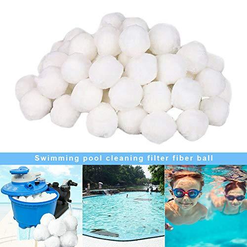 Yalatan Pool-Filterkugeln, professioneller umweltfreundlicher Faser-Filtermedien-Swimmingpool, praktischer Sandfilter-Ersatz für die Poolreinigung