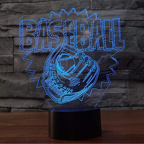 Lifme 3D Baseball Handschuh Form Led Nachtlichter 7 Farbwechsel Atmosphäre Tischlampe Home Schlafzimmer Sport Decor Baby Schlaf Licht Geschenke