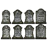 """Beistle 1516 Tombstone Cutouts 4 Piece Halloween Party Decorations, 15"""", Black/Gray"""
