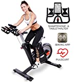 Miweba Sports Profi Indoor Cycling Bike MS600 Pro Ergometer Heimtrainer - App-Steuerung -...
