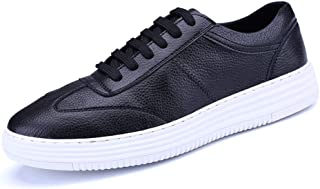 Oap Men's Shoes Men's Casual Athletic Shoes Lace up Style Microfiber Leather Outdoor Sports Running Sneakers dt (Color : White, Size : 43 EU)