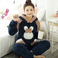 SDCVRE Pajama set Winter Women's Pajamas Sets Fashion Animal Rabbit Pyjamas Femme Two Pieces Pijama Suit Nighties Sleepwear Girl Home Clothes,Color 6,XXL