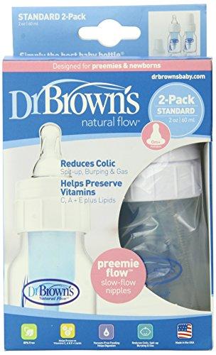 Dr. Brown's Original Bottle, Preemie, 2 Ounce, 2-Pack