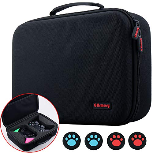 9CDeer EVA Universal Carrying Travel Protective Hard Case for Double PS4, Xbox One, Switch Pro Controller or Any Similar Size Controller with Thumb Grips x 4