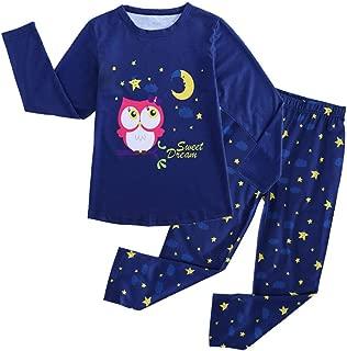 MyFav Children Girl Pajama Long Sleeve Sleepwear Cute Big-Eye Panda Nightclothes