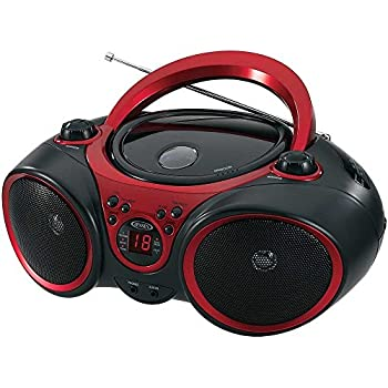 Jensen Portable Cd Player & Digital Tuner AM/FM Radio Mega Bass Reflex Stereo Sound System Plus 6ft Aux Cable to Connect Any iPod iPhone or Mp3 Digital Audio Player