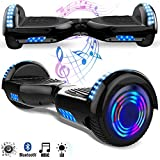 Magic Vida Skateboard Elettrico 6.5 Pollici Bluetooth con Due Barre LED Monopattini elettrici...