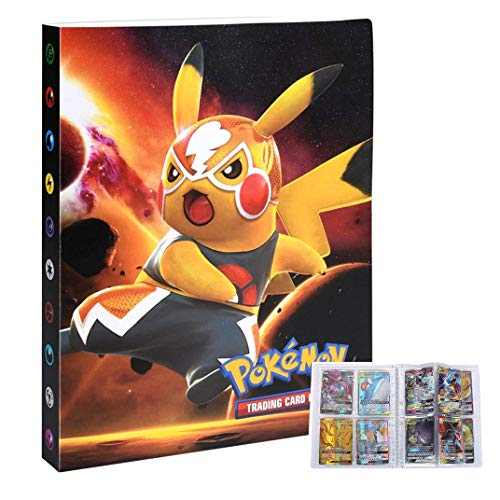 UHIPPO Storage Album Compatible Pokemon Cards, Cards Holder Compatible Pokemon Card GX MEGA and EX, Album Binder Compatible Pokemon Trading Cards, 30 Pages–240 Cards (Back-to-Back) (DDY)