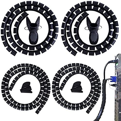 Organizador Cables 2 pcs 1m * 22mm + 2 pcs 1m*10mm Tubo de La Envoltura del Cable Recogecables para PC TV DVD Cable de Antena Estéreo Agrupar Cable