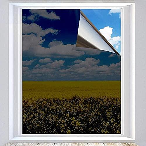 Xtracare Spiegelfolie Selbstklebend Fensterfolie Innen Sonnenschutzfolie für Wärmeisolierung, 99% UV-Schutz und Sichtschutz Schwarz, 90 x 200 cm