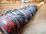 Candy Corn Themed Barbed Wire Baseball Bat