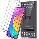 LK Protector de Pantalla para Xiaomi Mi 9 Lite Cristal Templado, [3 Paquetes] [9H Dureza] [Resistente a Arañazos] Vidrio Templado Screen Protector para Xiaomi Mi 9 Lite