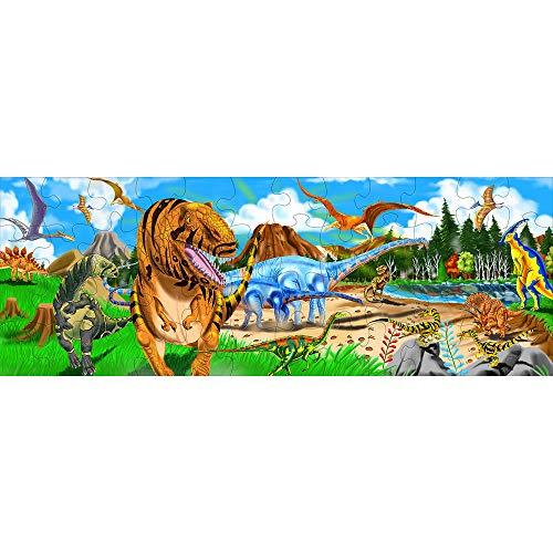 Melissa & Doug Land of Dinosaurs Floor Puzzle (48 pieces, 4 feet long)