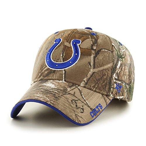 NFL Indianapolis Colts '47 Frost MVP Camo Adjustable Hat, One Size, Realtree Camouflage