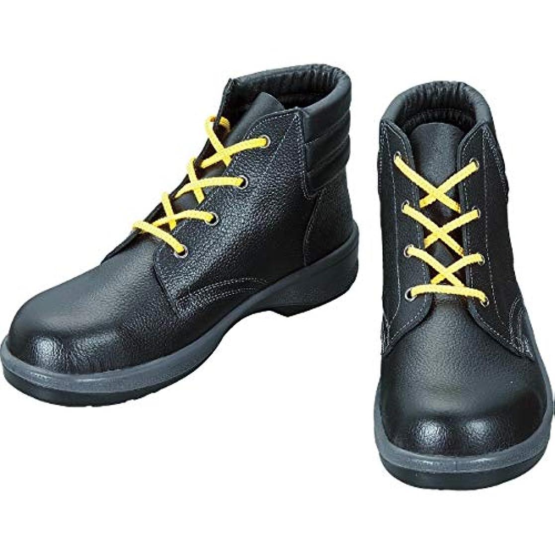 以内に三角大きいシモン 静電安全靴 編上靴 7522黒静電靴 24.5cm 7522S-24.5