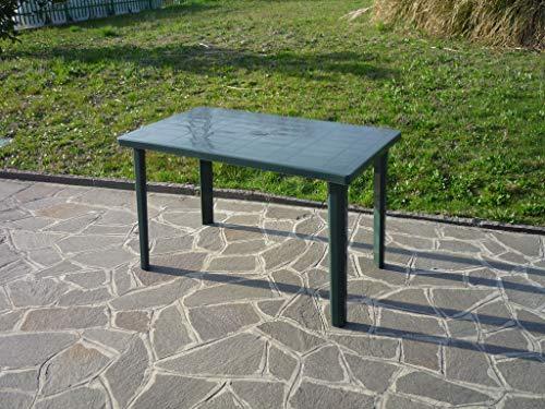 Tavolo in resina antiurto verde cm 120 x 70 da giardino