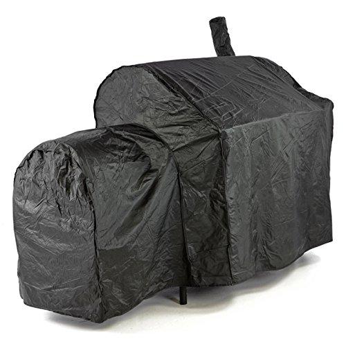 Nexos Schutzhülle für Smoker Abdeckung Wetterschutz Plane Cover 120g/PVC schwarz pflegeleicht Haube Grillabdeckung 150x72x124 passend für GZ35614 Hülle wasserdicht