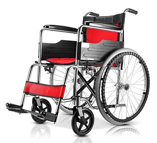 Gcxzb Manual de ruedas Sillas de ruedas Scooter Sport Auto portátil plegable móviles Vespa niño esté cómodo apoyabrazos partes posteriores del amortiguador respirable de aleación de aluminio, transpor