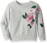 Hudson Girls' Big Garden Pullover, Heather Grey, M