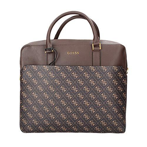 Guess Bolsa Cartera Hombre Vezzola Briefcase Dark Brown UBS21GU11 HMVEZLP1113 Media