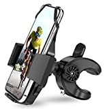 AONKEY Bike Phone Mount – One Touch Release Phone Holder for Bike Handlebar/Stem, Universal Mountain Bicycle & Motorcycle Holder Compatible with iPhone 12, Pro/11Pro/XS, 4'- 6.8' Cell Phones