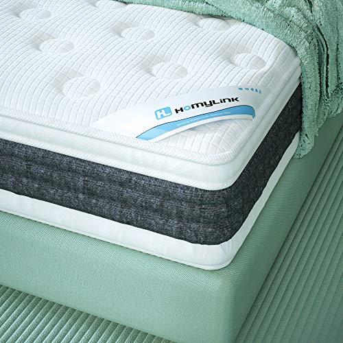 HomyLink Single Mattress, Gel Memory Foam Pocket Sprung Mattress 3FT,...