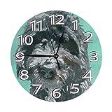 Mailine Pintura Barbet Dog Art Mini temática Patrón Impreso Diseño Reloj de Pared Sala de Estar Comedor Dormitorio Escritorio en el hogar Arte Dormitorio Sin tictac