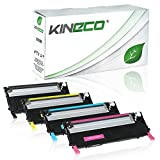 4 Toner kompatibel zu CLP-320 für Samsung CLP-325, CLX-3180, CLX-3185 - Schwarz 2.500 Seiten, Color je 2.000 Seiten