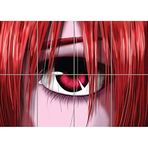 Doppelganger33 LTD Elfen Lied Wand Kunst Multi Panel Poster drucken 47x33 Zoll
