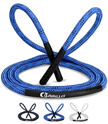 Cravallo® Springseil I 3 Meter Fatburner Speed Jumping Rope I Erwachsenen Profi Skipping Seil I Ideal zum Boxen, Ausdauer Sport, MMA, HIIT (in 10 mm und 12 mm Durchmesser)… (Blau 3 Meter, 10 mm)