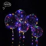 Parsion Heliumballons, 5 Stück Helium Ballongas Leucht Luftballon Weiss Zuhause Dekoration Zum Party Hochzeit Weihnachten Festival