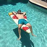 AYDQC Plegable Piscina, Agua colchón Inflable, PVC Fila Flotante Inflable de Pizza, Surf Agua de la Piscina for Adultos Juguetes flotantes Fila del Partido fengong