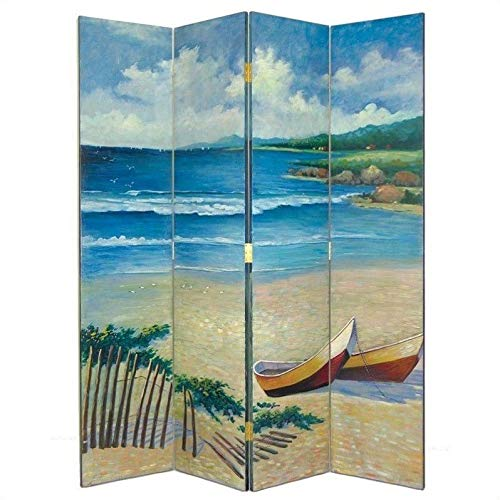 Wayborn Home Furnishing Room Divider with Beach Theme, 72', Multicolor