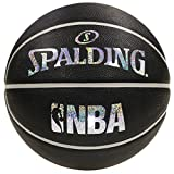 SPALDING(スポルディング)バスケットボール 7号 ラバー HOLOGRAM(ホログラム) ブラック×シルバー NBA公認 83-660J