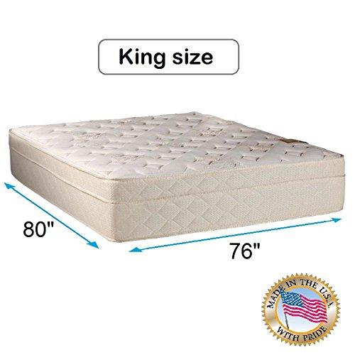 Review Dream Sleep Beverly Hills Firm Foam Encased Pillow Top (Eurotop) Mattress Only - Quilted Fabr...