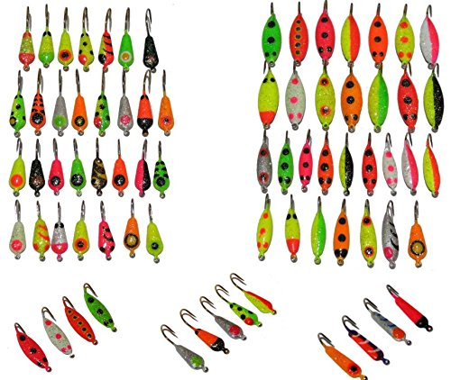 Angler's World of Jigs Premium Ice Fishing Lure Kit Ice Fishing Lure, Lures, Tackle, Bait, Rod, Pole, Reel, Combo, Case, Line, Gear, Pack, Hole, Sled, Shelter, Shanty, Tool