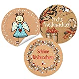 Logbuch-Verlag SET 3 x 24 Weihnachtsaufkleber Sticker