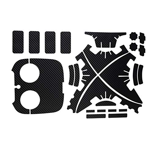 Appearanice 1 Set Waterproof Protective Carbon Fiber Decal Skin Sticker For Phantom 3 Copter Shell Remote Controller