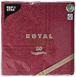 Papstar 11668 50 Tovaglioli Royal Collection 40 x 40 cm, Bordeaux