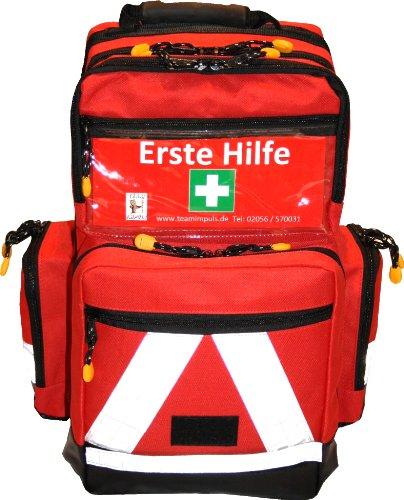 *Erste Hilfe Notfallrucksack Sport, Sportvereine, Freizeit , Event & Freizeit – Nylonmaterial mit weißen Reflexstreifen*